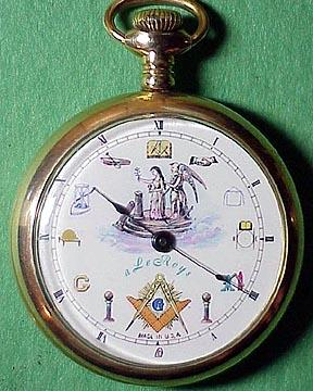 clock reminds us of the one great god to whom the lodge is erected